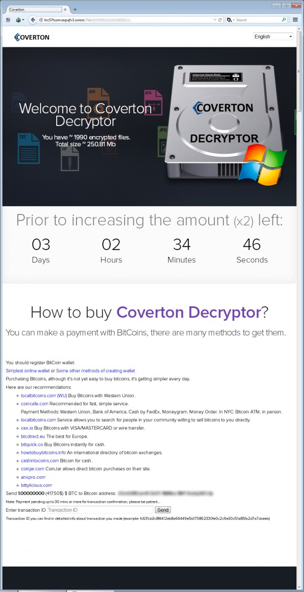 Coverton Ransomware