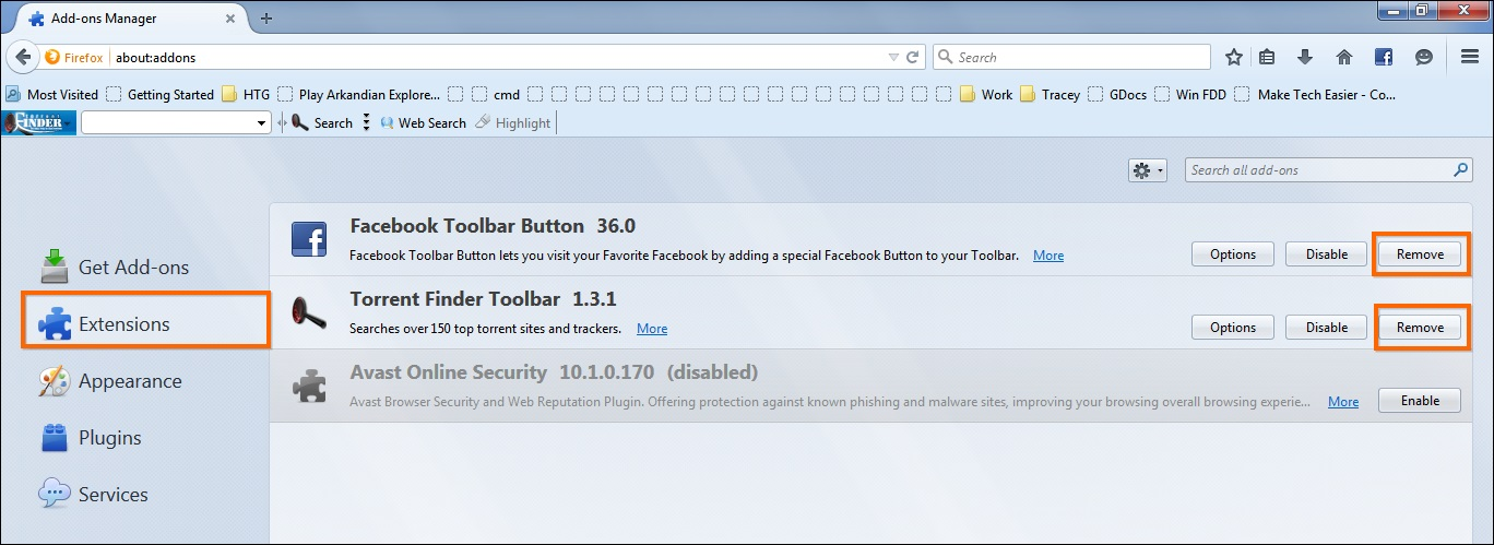 How to remove an internet toolbar-9