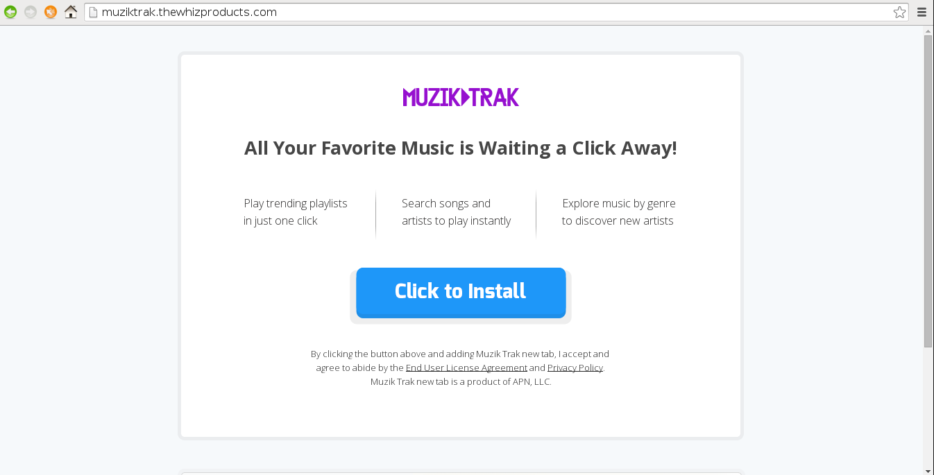 Remove Muziktrak.thewhizproducts.com