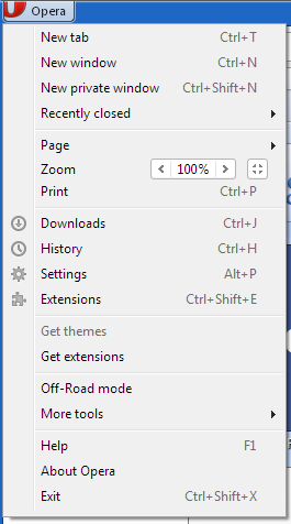 Opera main menu Manage Opera Web Browser And Remove Malware Infections