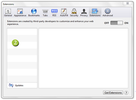 Safari Manage Extensions 1