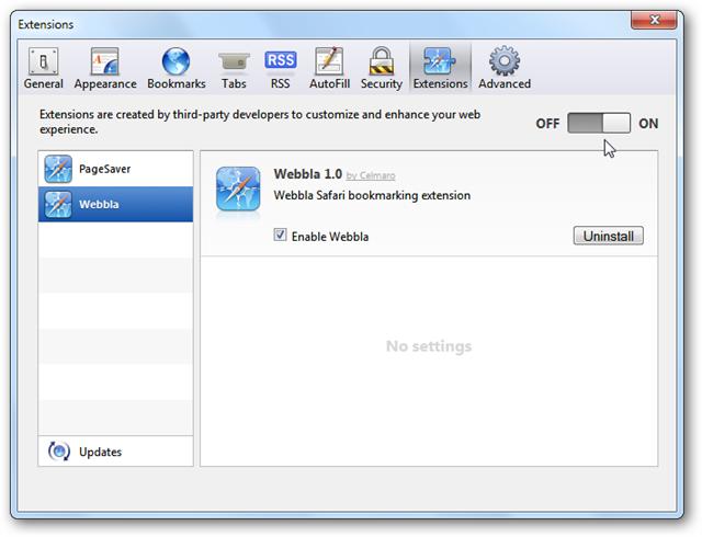 Safari Manage Extensions 2