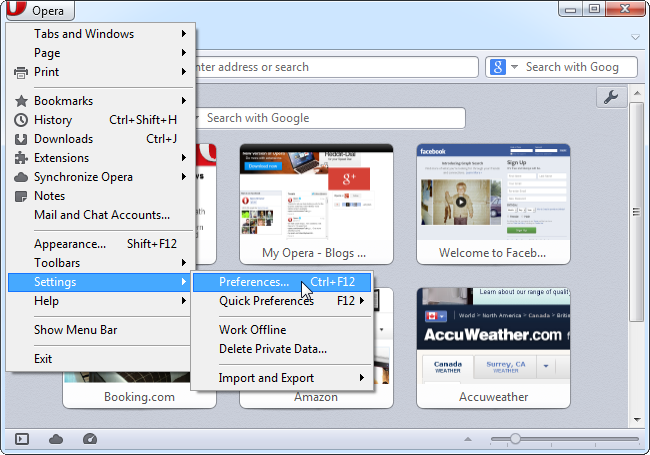 opera prefrences Manage Opera Web Browser And Remove Malware Infections
