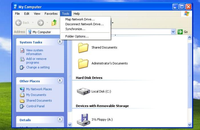 Savoir comment r v ler les fichiers cach s dans toutes les for Fenetre windows xp