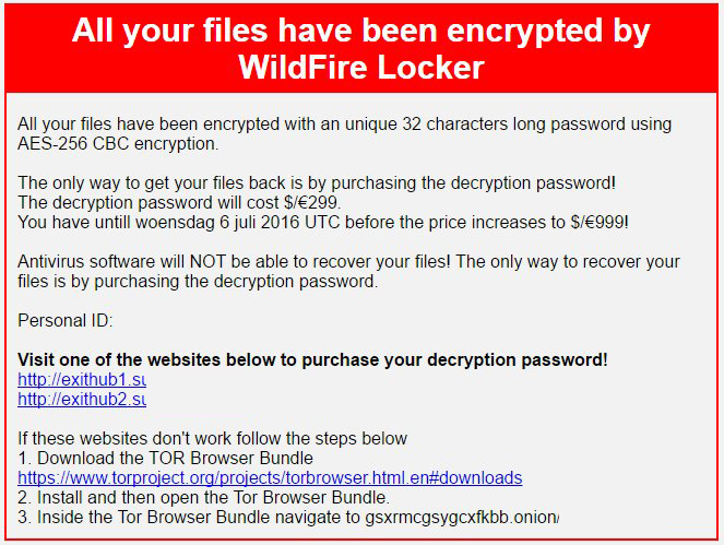 Remove WildFire Locker Ransomware