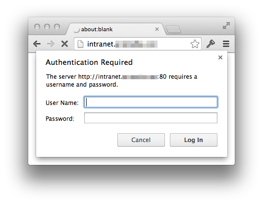"delete ""Authentication Required"" pop-ups"