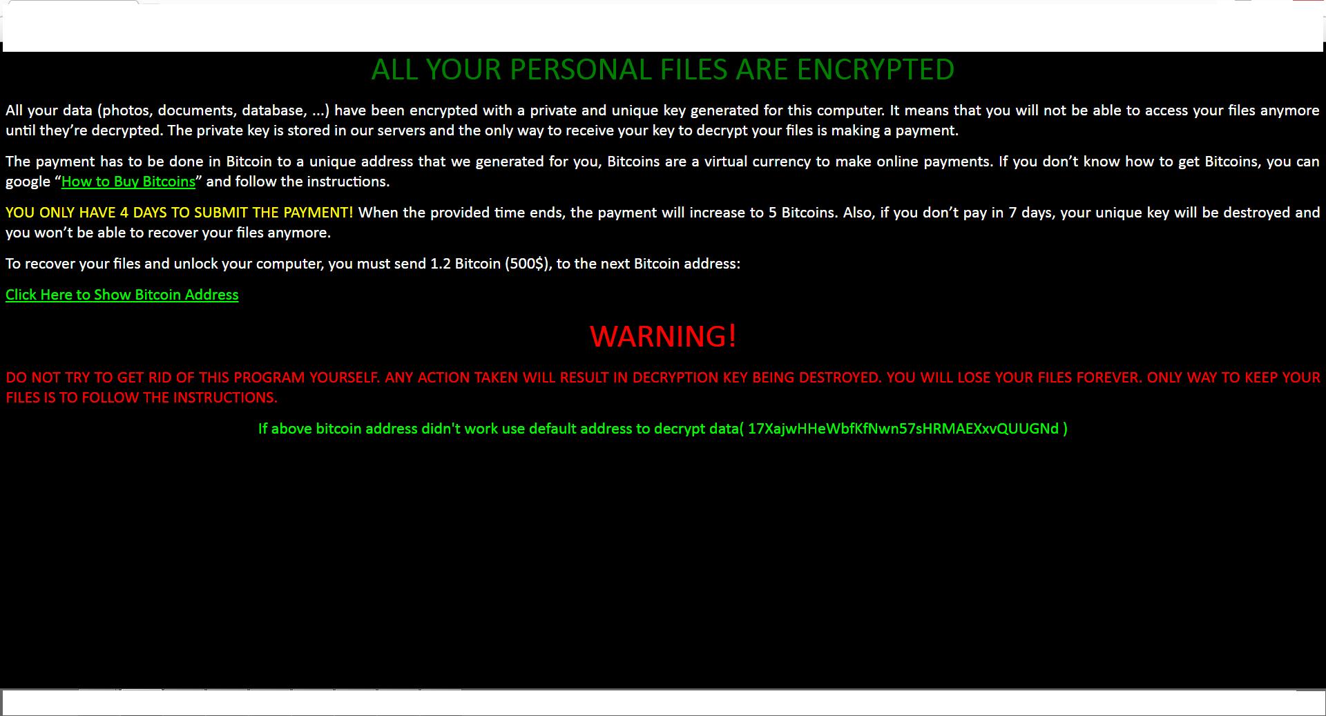 delete Zcrypt Ransomware