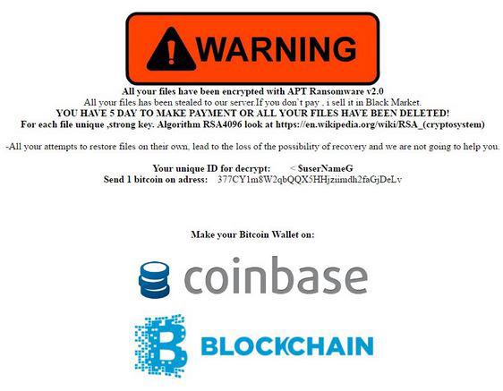 APT Ransomware