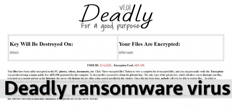 uninstall Deadly Ransomware