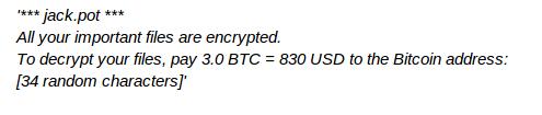 JackPot Ransomware