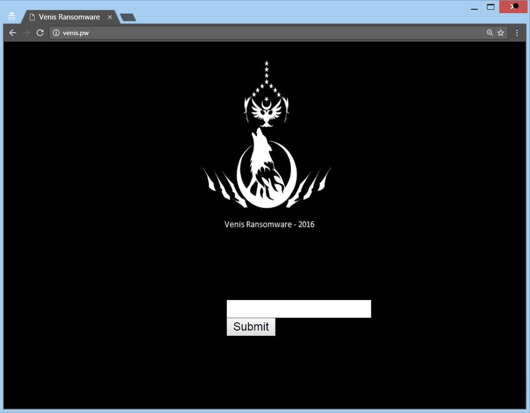 delete Venis Ransomware