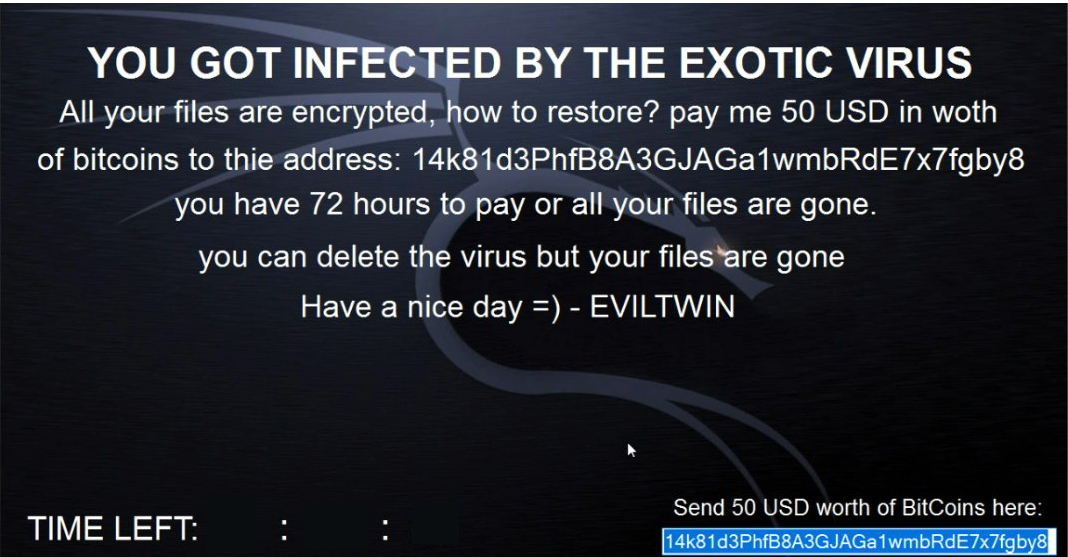 EXOTIC 3.0 Ransomware