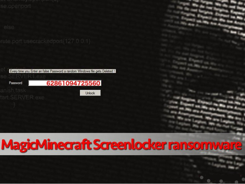 MagicMinecraft Screenlocker