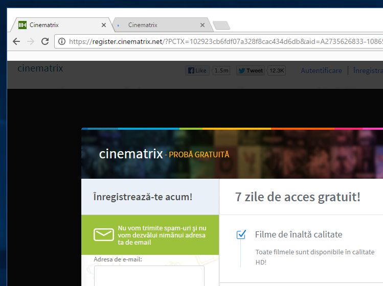 Delete Register.cinematrix.net