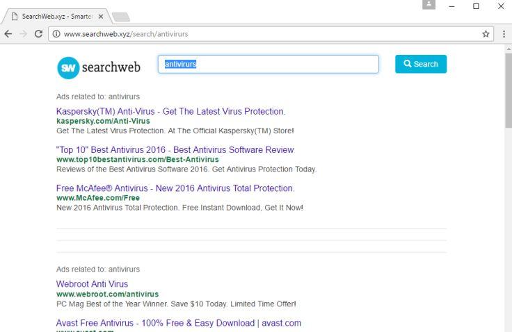 Delete Searchweb.xyz
