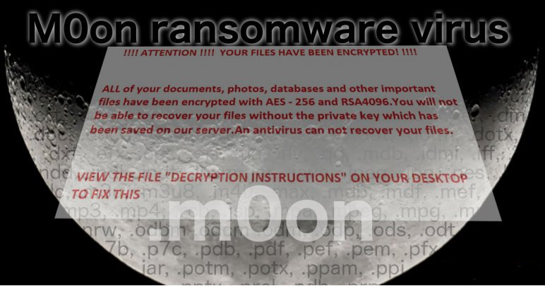 delete M0on Ransomware
