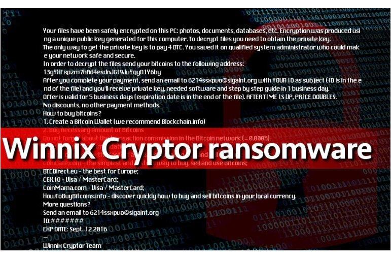 Winnix Cryptor Ransomware