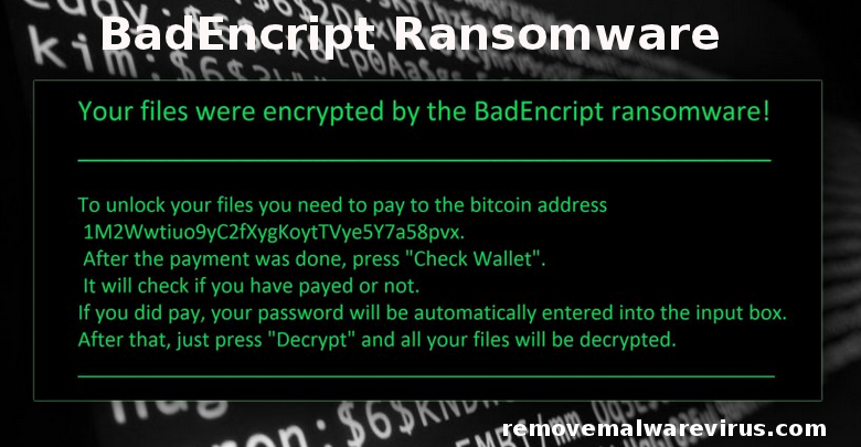 BadEncript Ransomware