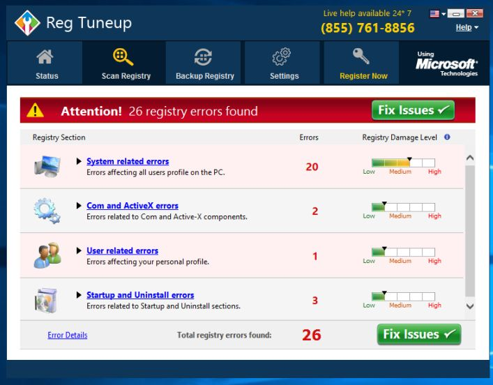 uninstall Reg TuneUp