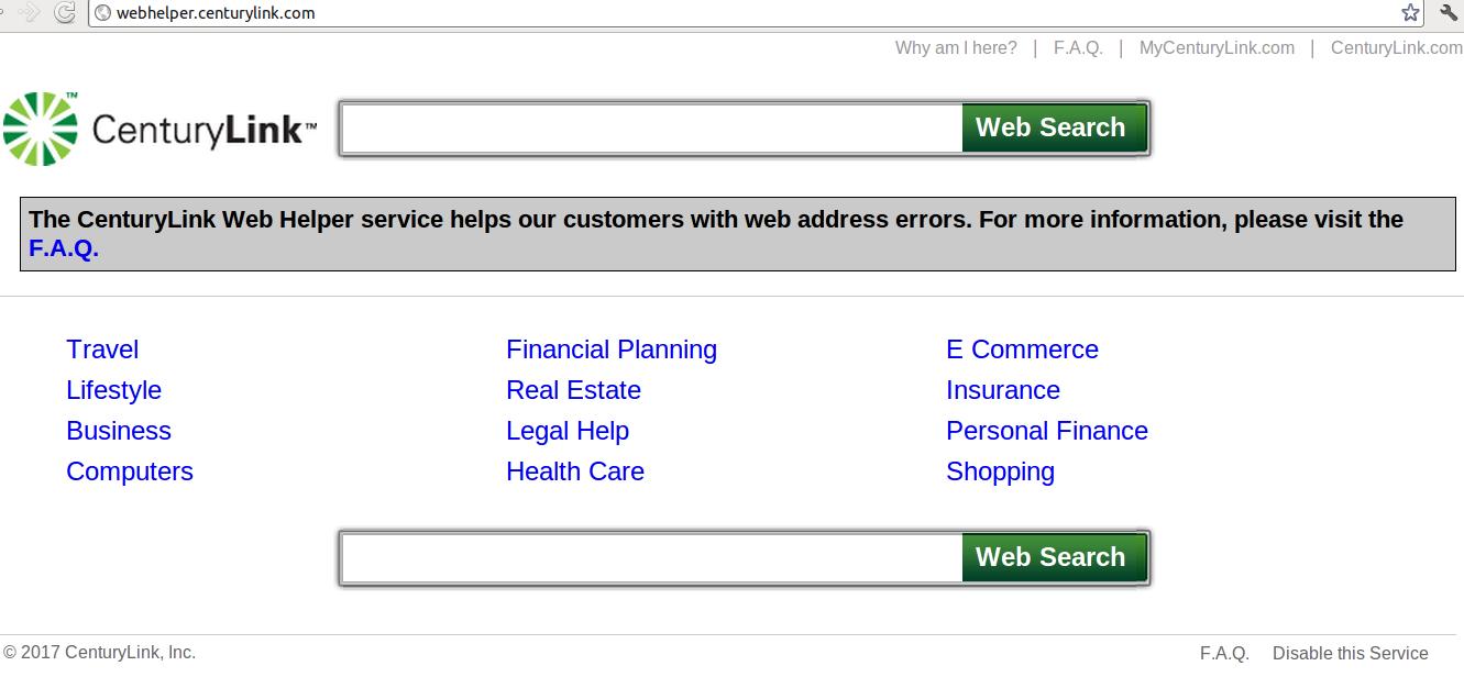 webhelper centurylink com removal from major browsers uninstall