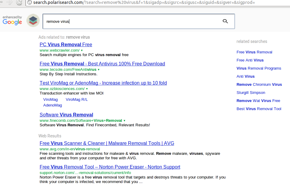 search engine virus removal tool