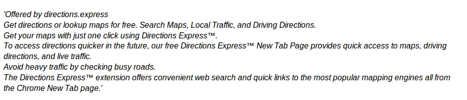 Directions Express