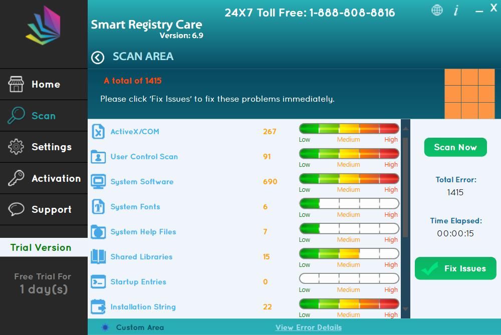 Deinstallieren Smart Registry Care