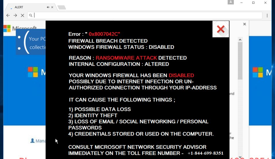 remove Firewall Breach Detected Pop-ups