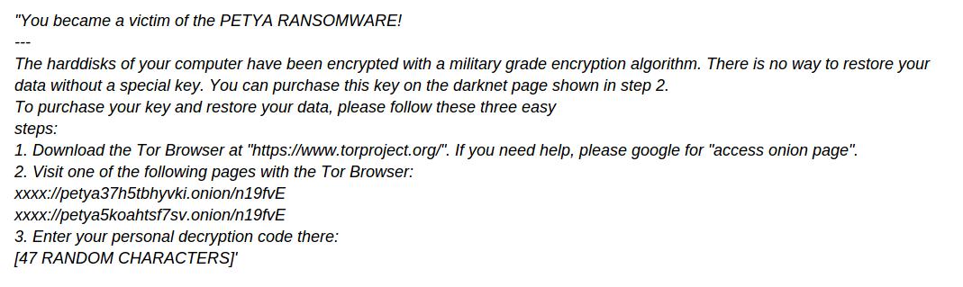 remove Petya+ Ransomware
