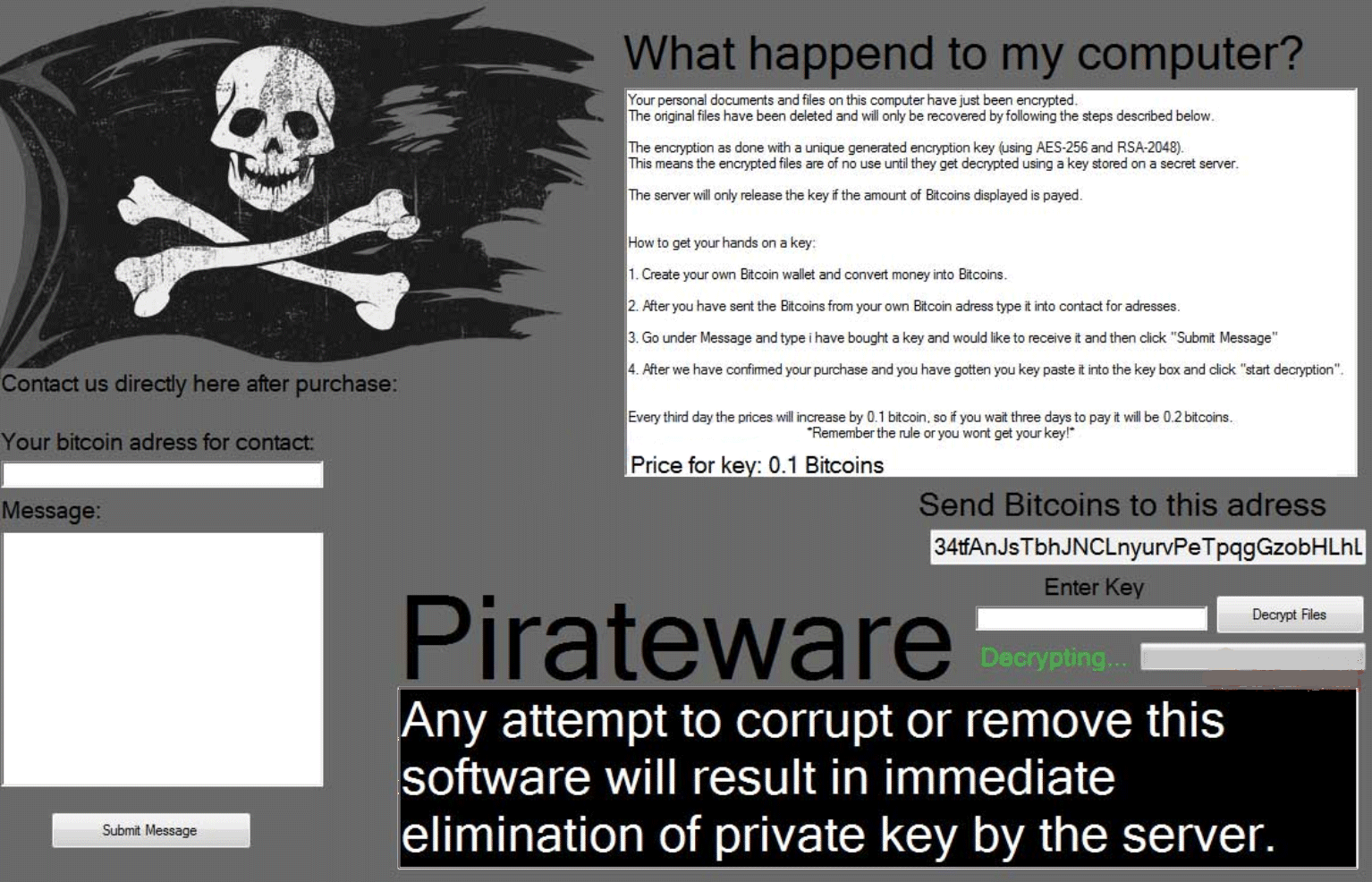 Pirateware Ransomware