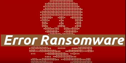 Delete Error Ransomware