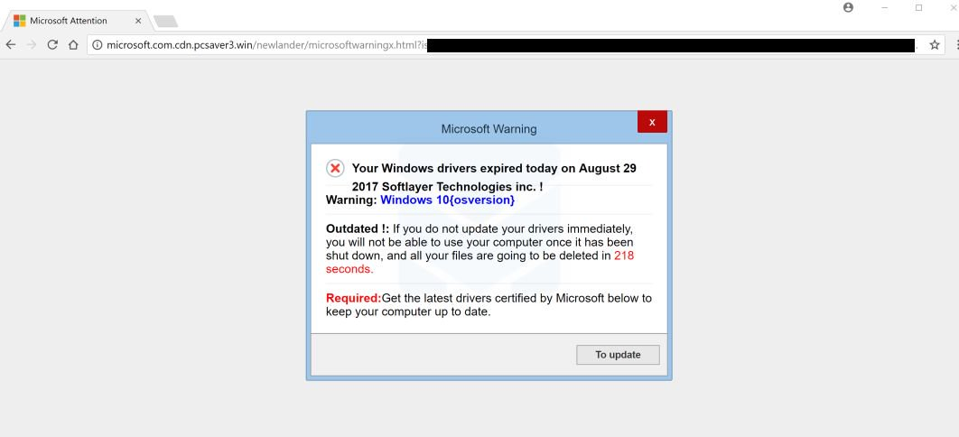 eliminar los controladores de Windows expiró hoy pop-ups