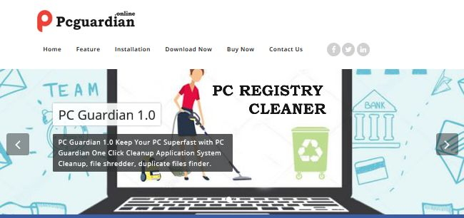 uninstall PC Guardian Registry Cleaner