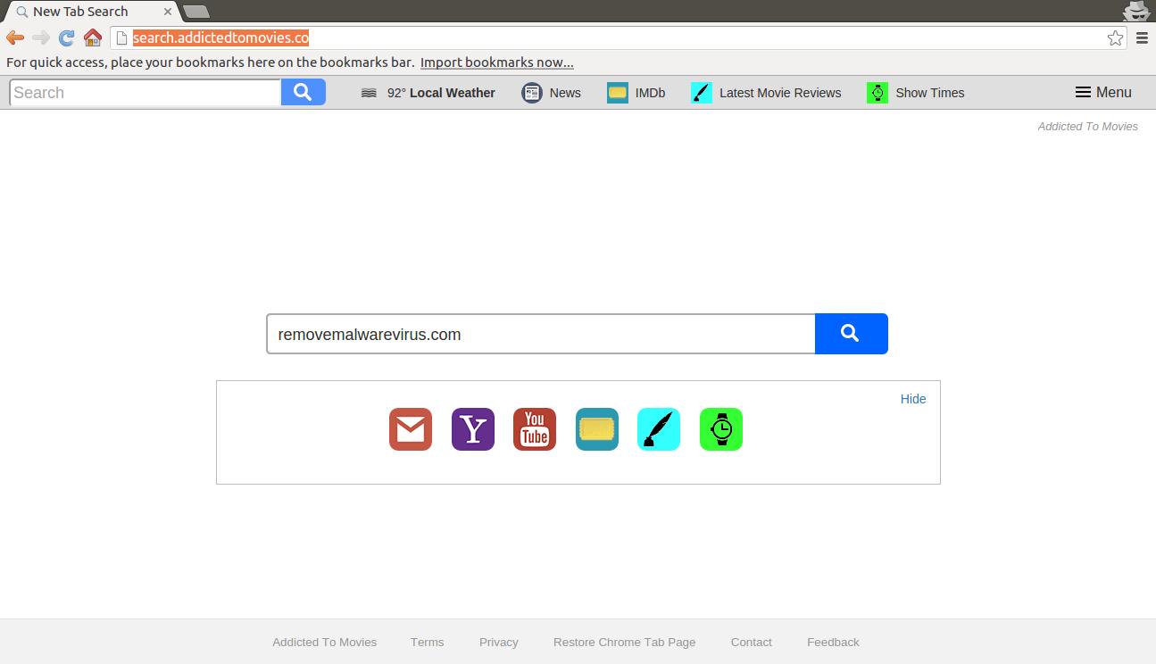 remove Search.addictedtomovies.co