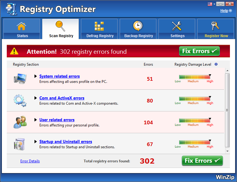Supprimer-WinZip Registry Optimizer