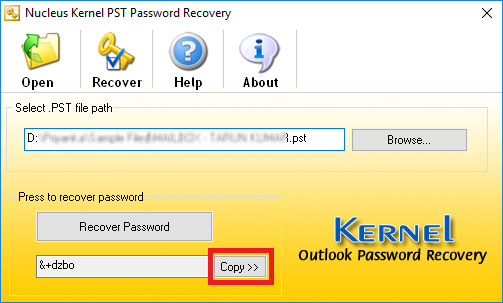 Get Forgotten Password for PST