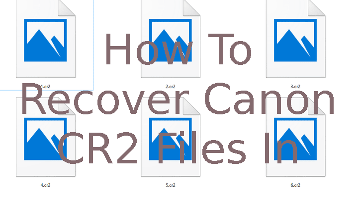 cr2 manual method recovery