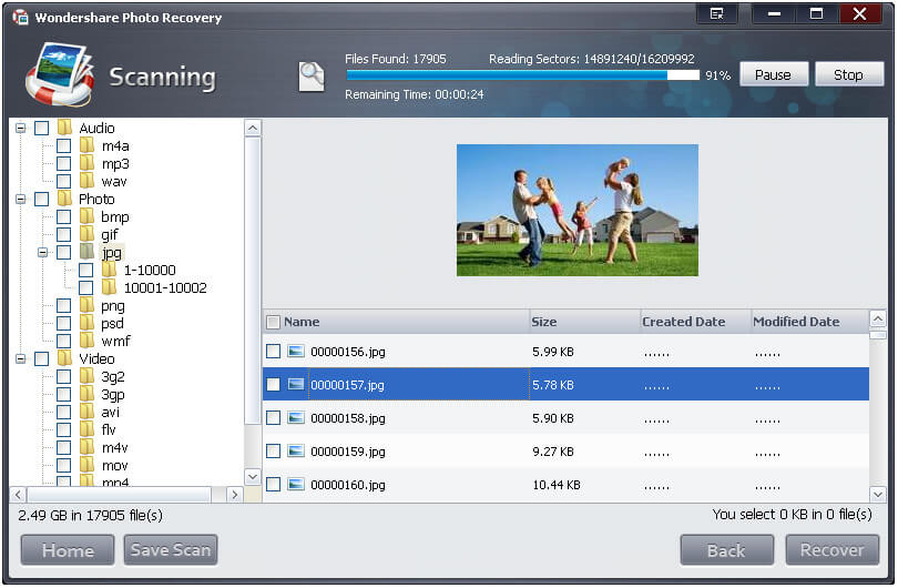 scanning 2 Sandisk Recovery Software for Sandisk 64GB, 32GB, 16GB & 8GB Memory Cards