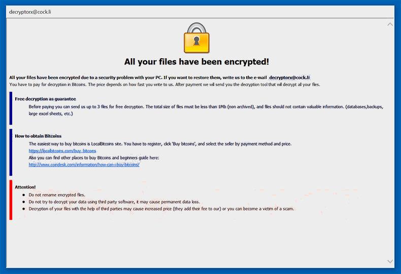 supprimer Wyvern Ransomware