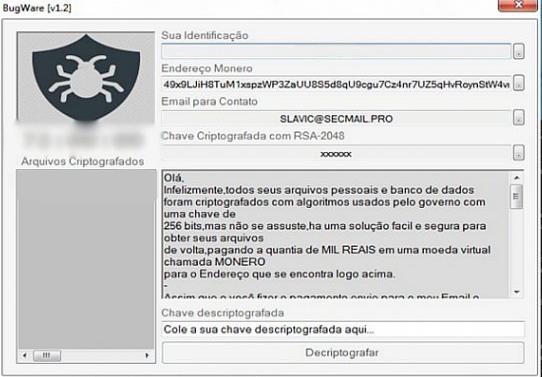 BUGWARE v1.2 Ransomware