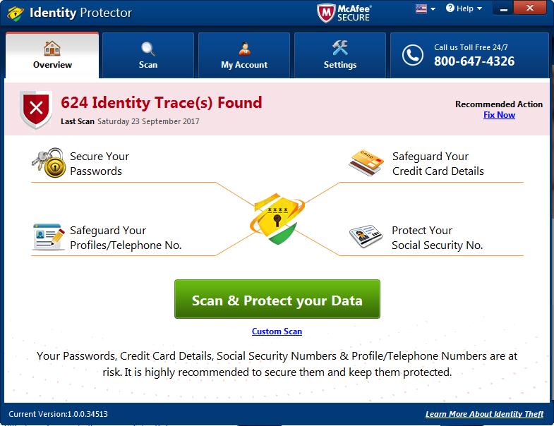 Identitätsschutz löschen