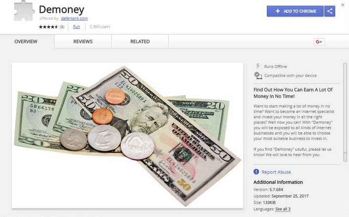 Demoney Chrome Extension