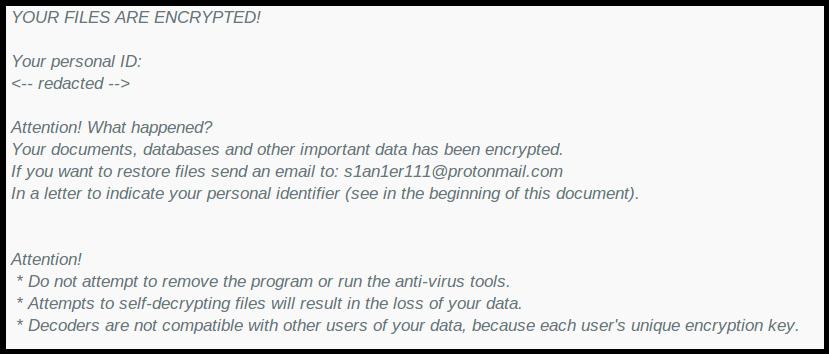 Amnesia2 ransomware