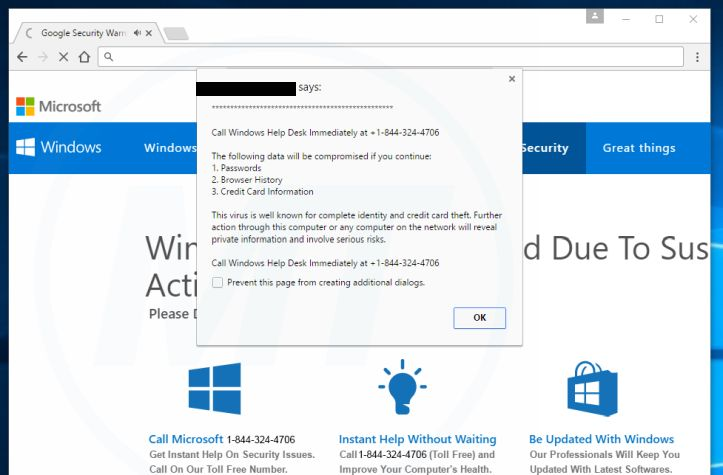 remove Call Windows Help Desk Immediately
