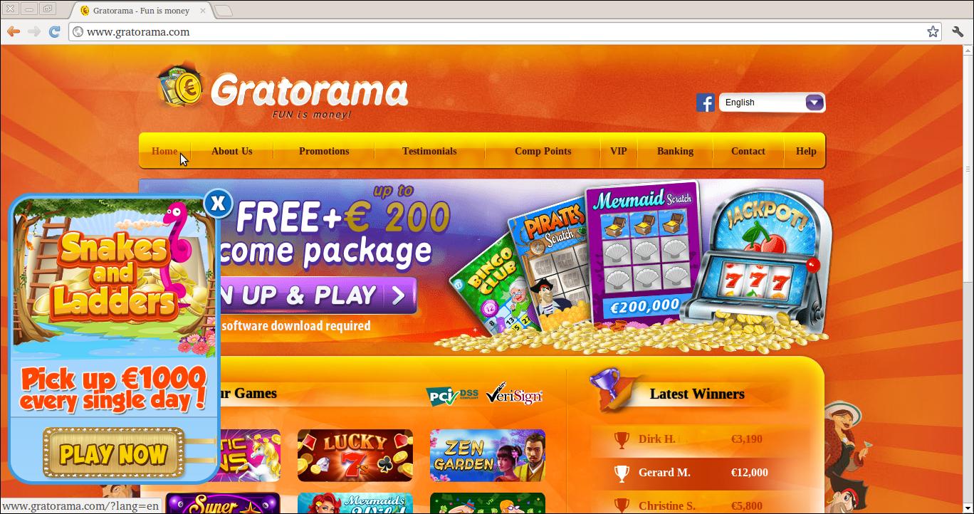 Anzeigen von Gratorama löschen