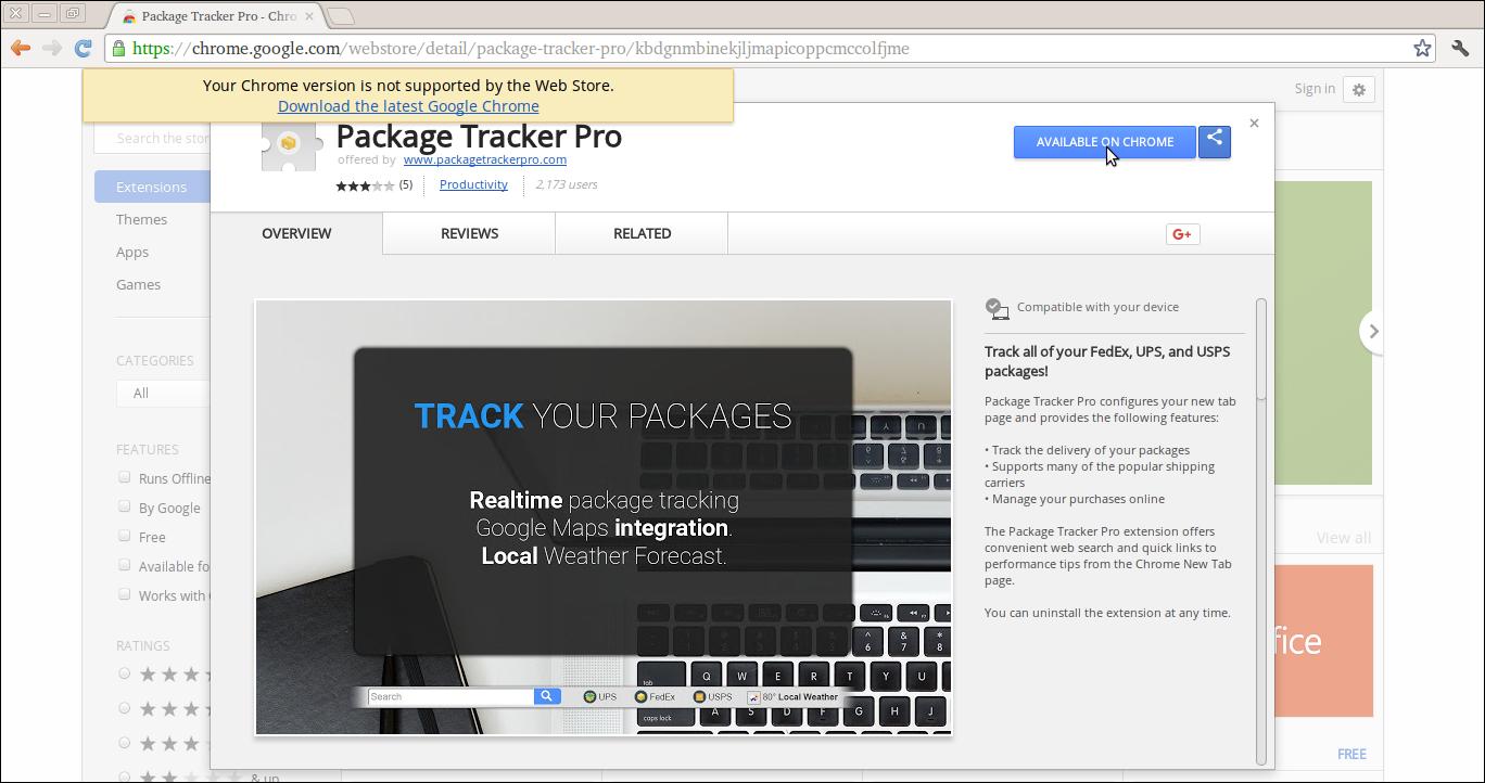 Delete Package Tracker Pro