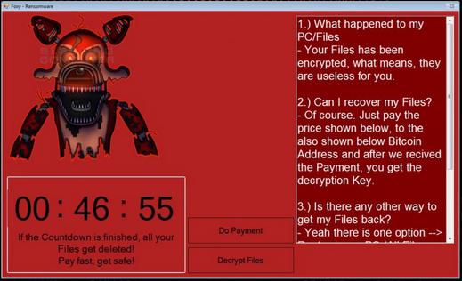 rimuovere Foxy Ransomware