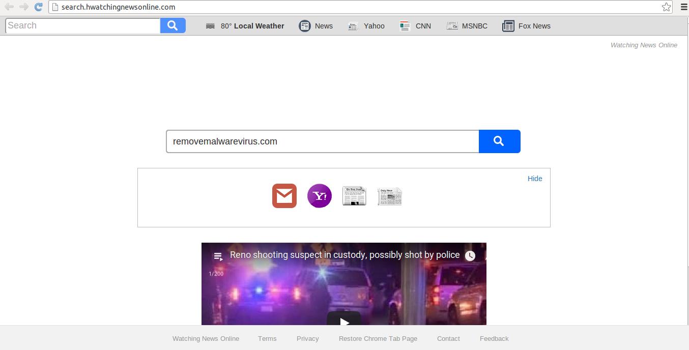 rimuovere Search.hwatchingnewsonline.com