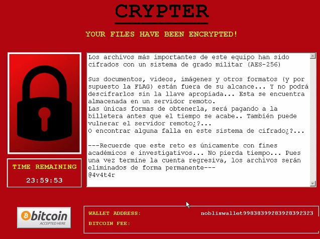 Ransom Note of Noblis Ransomware