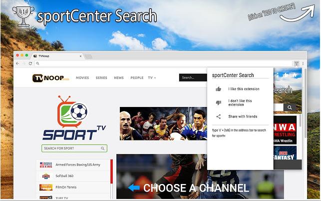 Entfernen Sie die SportCenter Search Extension